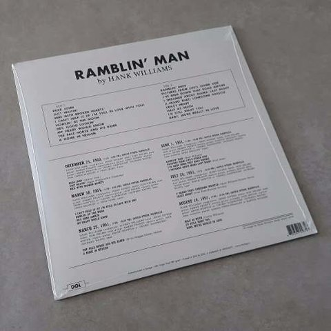 Vinil Lp Hank Williams Ramblin Man 180g Lacrado