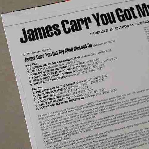 Vinil Lp James Carr You Got My Mind Messed Up Lacrado