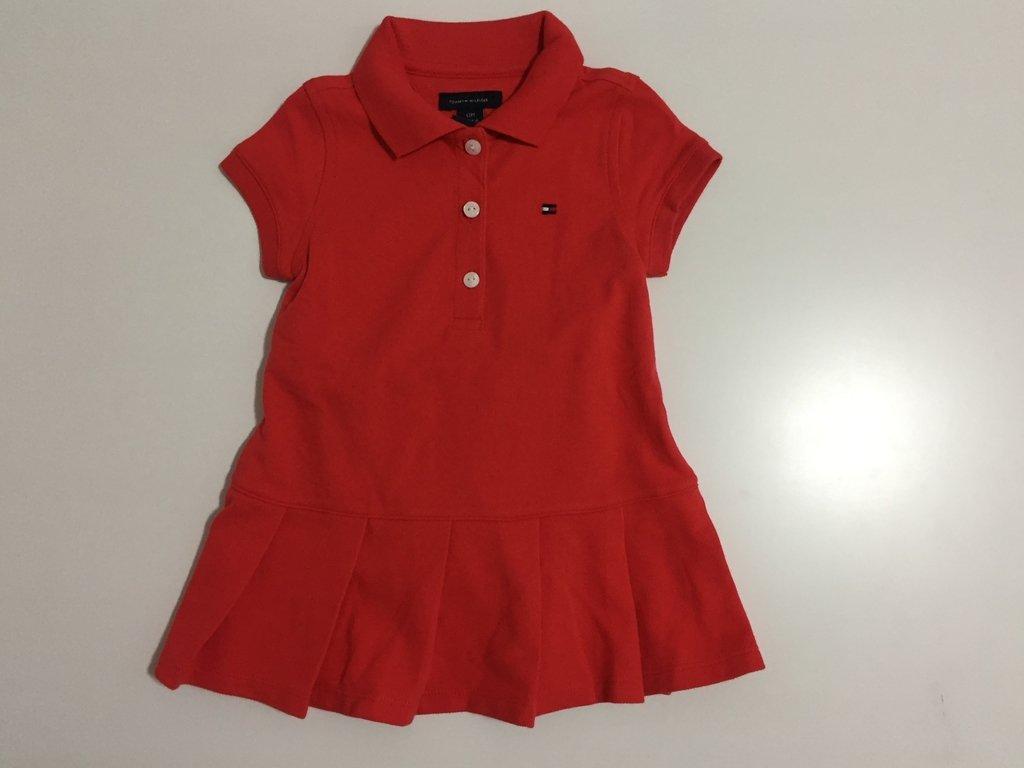 3f2a9343a55 Vestido polo vermelho - Tommy Hilfiger - Manili Kids