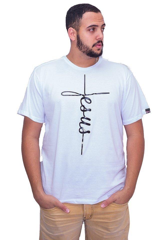 d2be89a25 Camiseta Jesus da Cruz - Branco - Sazar Gospel Store