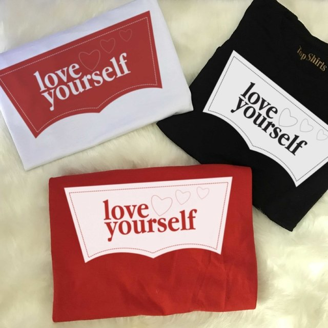 T-Shirt Bran/Pret/Verme MOD 950 LOVE YOURSELF - comprar online