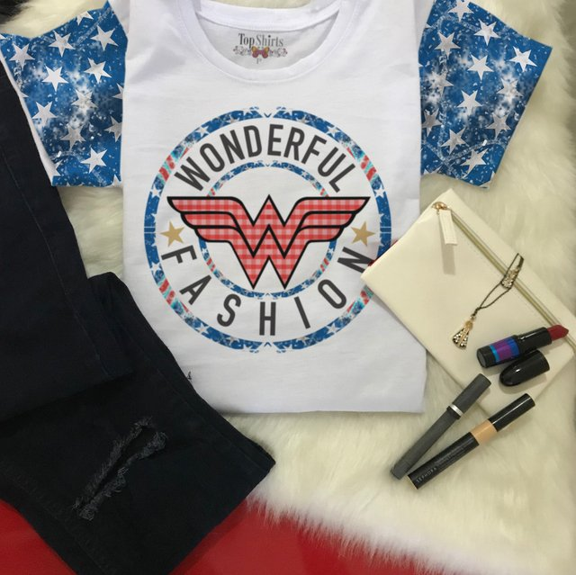 T-Shirt Branca MOD 956 WONDER FASHION - comprar online