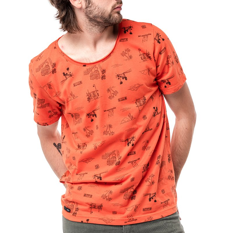 Remera Chicago Naranja