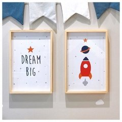 Set cuadrito infantil cohete + dream big