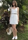 Vestido Slip Dress Chopper Off White