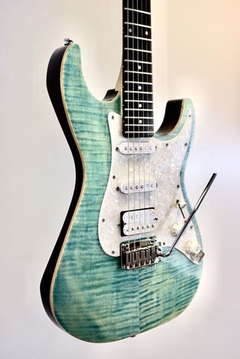 Guitarra Stratocaster Michael Kelly 1963 Blue Jean  en internet