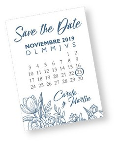 IMÁN SAVE THE DATE  (X 25 UNIDADES)