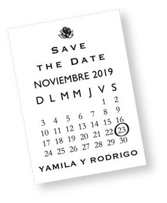IMÁN SAVE THE DATE  (X 25 UNIDADES) - comprar online