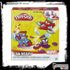 Massinha Play-doh - Veículos Marvel - Hasbro - Disney