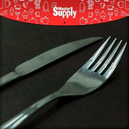 Set X12 Cubiertos Tenedor Cuchillo Acero Inoxidable - Master Supply