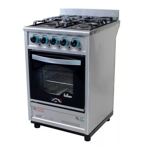 Cocina industrial fornax 55cm 4 hornalla puerta vidrio visor for Puerta cocina industrial