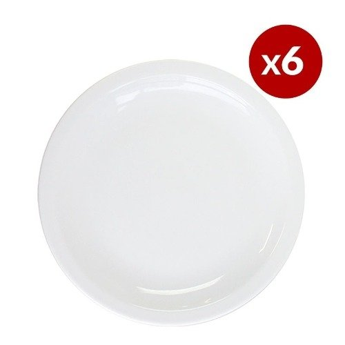 Set X6 Plato Playo 27cm Tsuji 450 Porcelana Primera Sello