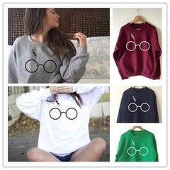 Casaco de malha Moletom Gola Careca Unissex  Harry Potter Hp