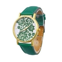 relogio-feminino-faux-leather-quartz-cor-verde