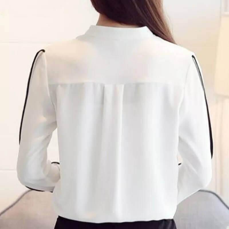 4d377683b2 Camisa Social Feminina Branca e Preta R  129