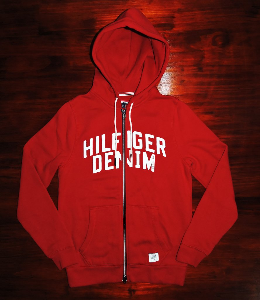 Campera Tommy Hilfiger - Full-Zip Fleece Hooded - Red