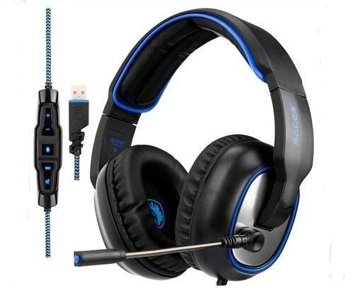 Headset Sades 7.1 PC gaming R7