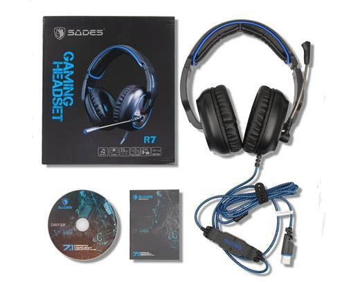 Headset Sades 7.1 PC gaming R7 - loja online