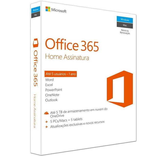 Microsoft Office 365 Home para 5 PC 6GQ-00647