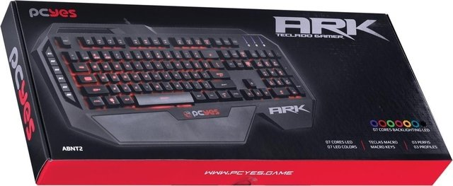 Teclado Gamer Pcyes Ark Usb 7 Cores Led