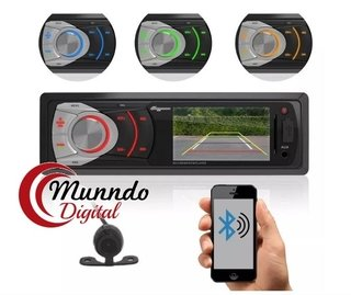 Mp3 Dvd Automotivo Com Led 4 Cores + Camera De Ré Entrada Usb + SD Card