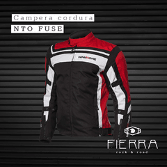 CAMPERA DE CORDURA NINE TO ONE FUSE ROJO