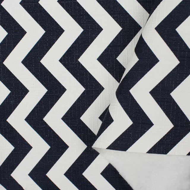 PVC Chevron Navy Blue