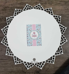 Cake board redondo com Renda branco 3mm