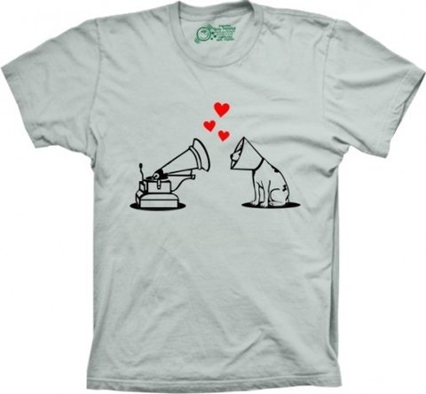 Camiseta Cão Vitrola na internet