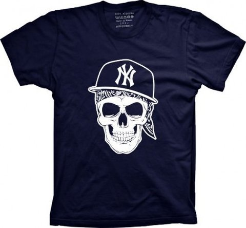 Camiseta Caveira NY Kings Gangsta