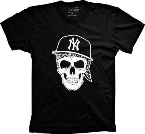 Camiseta Caveira NY Kings Gangsta na internet
