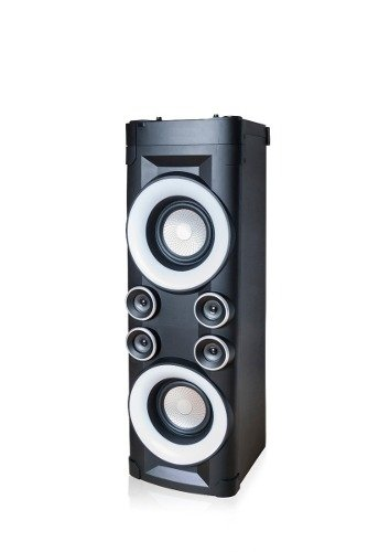 Torre Baffle Parlante Potenciado Led Flash Audioritmico Bt!! - Prontotec