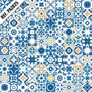 1108df7e2 Papel de parede Azulejo Português - REF. PAZ025