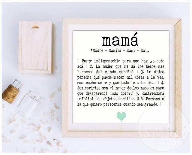 Lamina con Marco - Papá - Comprar en Lene Maria