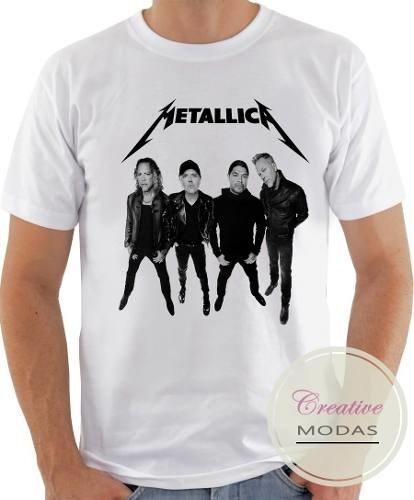 2f8dfd0afa0c6 Camisa Camiseta Banda De Rock Metallica