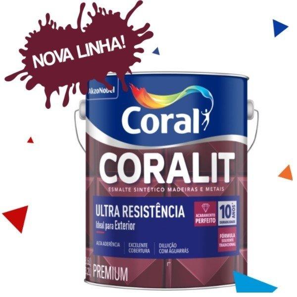 c2e3354e4c8 Tinta Coral Coralit Tradicional Esmalte Sintético