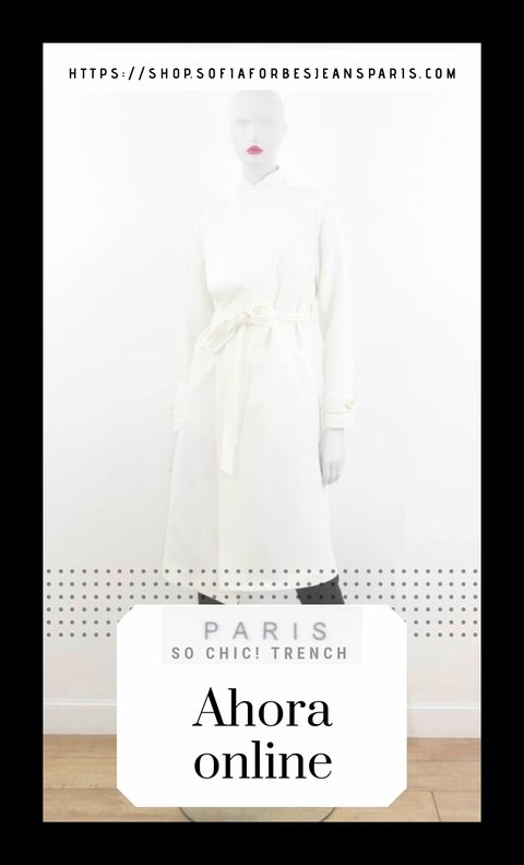 TRENCH BLANCO