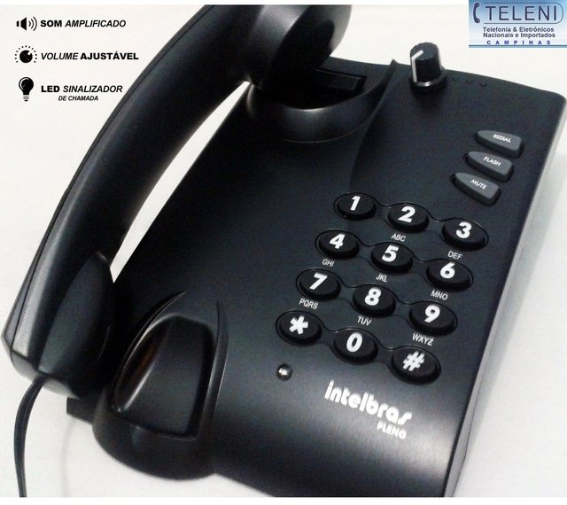 Telefone Intelbras c/ Fio Amplificado Para Deficiente Auditivo