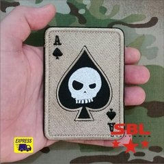 "Lote de Patches Multicam Ás de Espadas ""Especial Forces"" na internet"