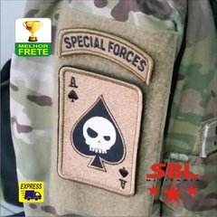"Lote de Patches Multicam Ás de Espadas ""Especial Forces"""