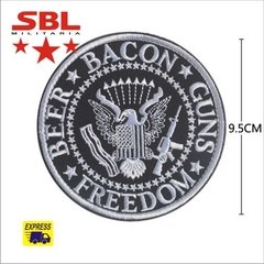 Funny Patch Beer Bacon Guns e Freedom - comprar online