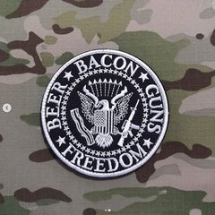Funny Patch Beer Bacon Guns e Freedom