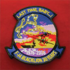 Patch F-14 BLACKLION Edição Especial 30 Years US AIR FORCE
