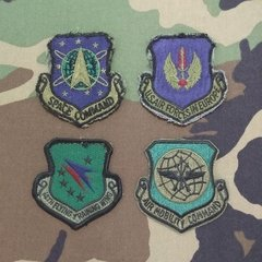 Lote 4 Patches de divisões aéreas US AIR FORCE - USAF
