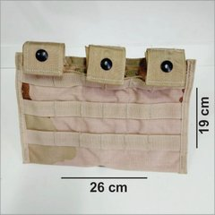 Pouch Tático Modular Triplo Mag M4 Desert p/ Colete Molle II na internet