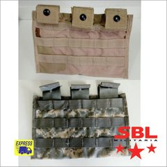 Pouch Tático Modular Triplo Mag M4 Desert p/ Colete Molle II