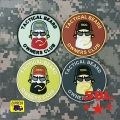 Patch Emborrachado Beard Owners Club - Barba