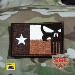 Patch bandeira Texas Punish Caveira
