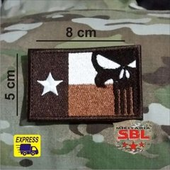Patch bandeira Texas Punish Caveira - comprar online