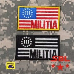 Patch Bandeira USA Militia